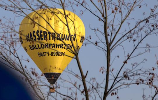 Die Vögel und der Heißluftballon